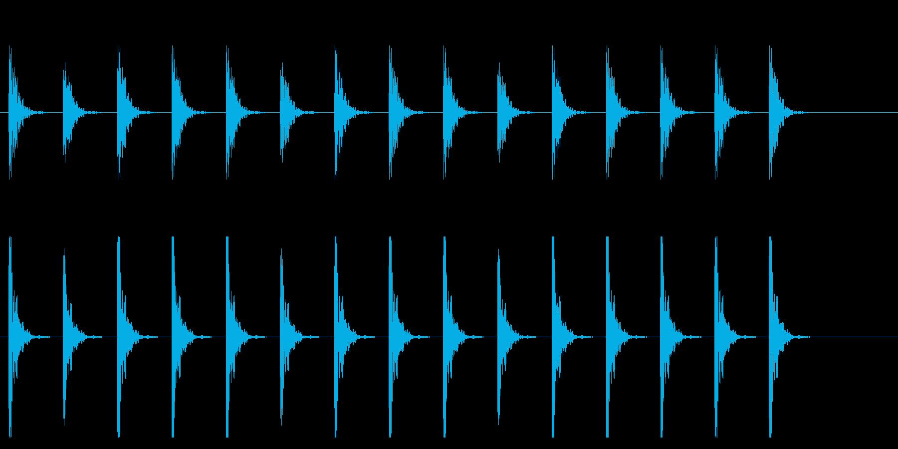 ポクポク1 木魚・シンキングタイム10秒の再生済みの波形