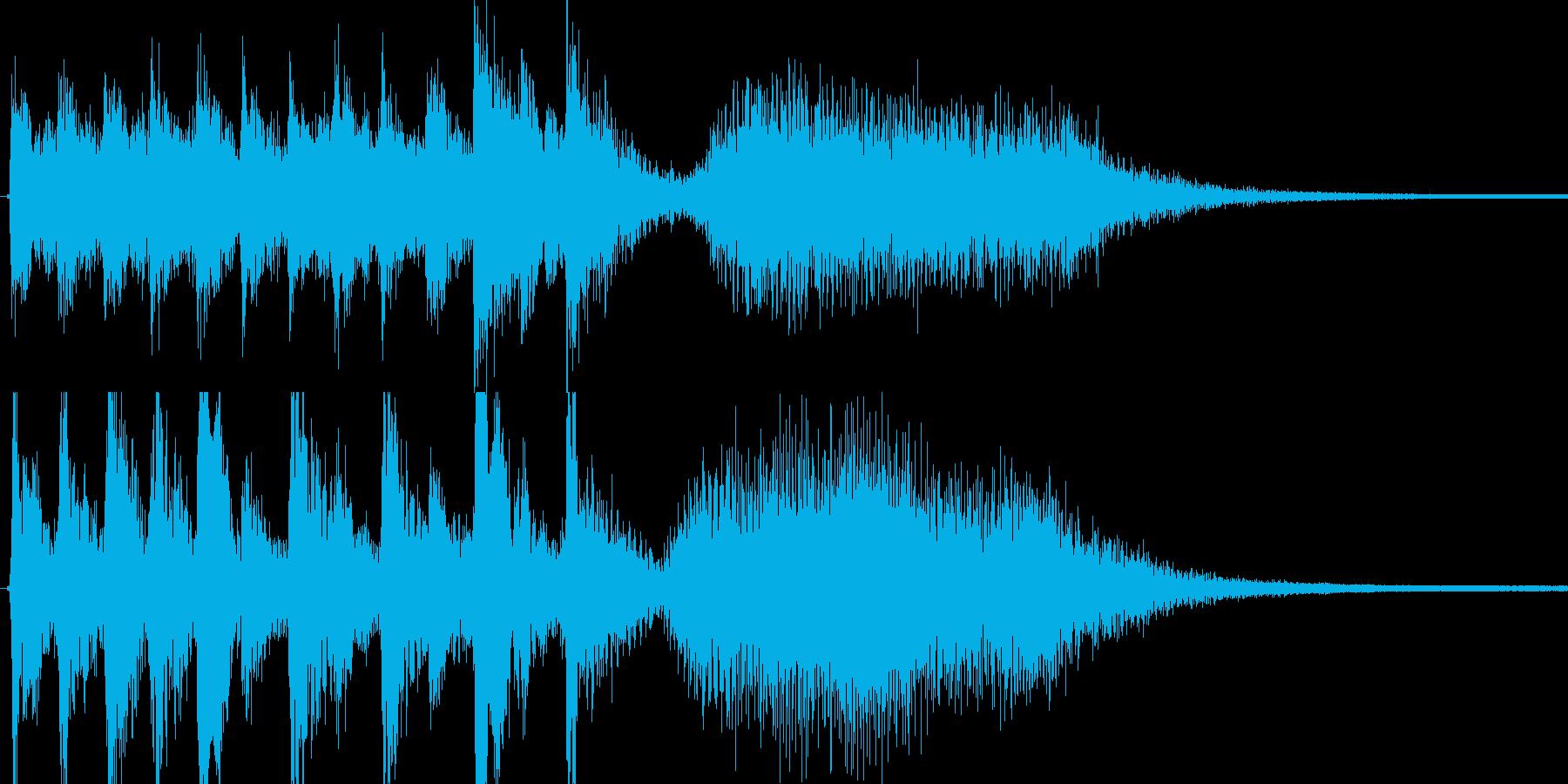 ゲームオーバー等に使えそうなBGMです。の再生済みの波形