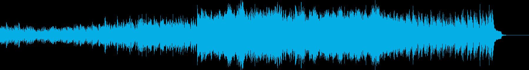 波のようなピアノと弦楽器の映像用BGMの再生済みの波形
