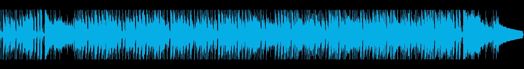 軽快なリズムの爽やかなポップスの再生済みの波形