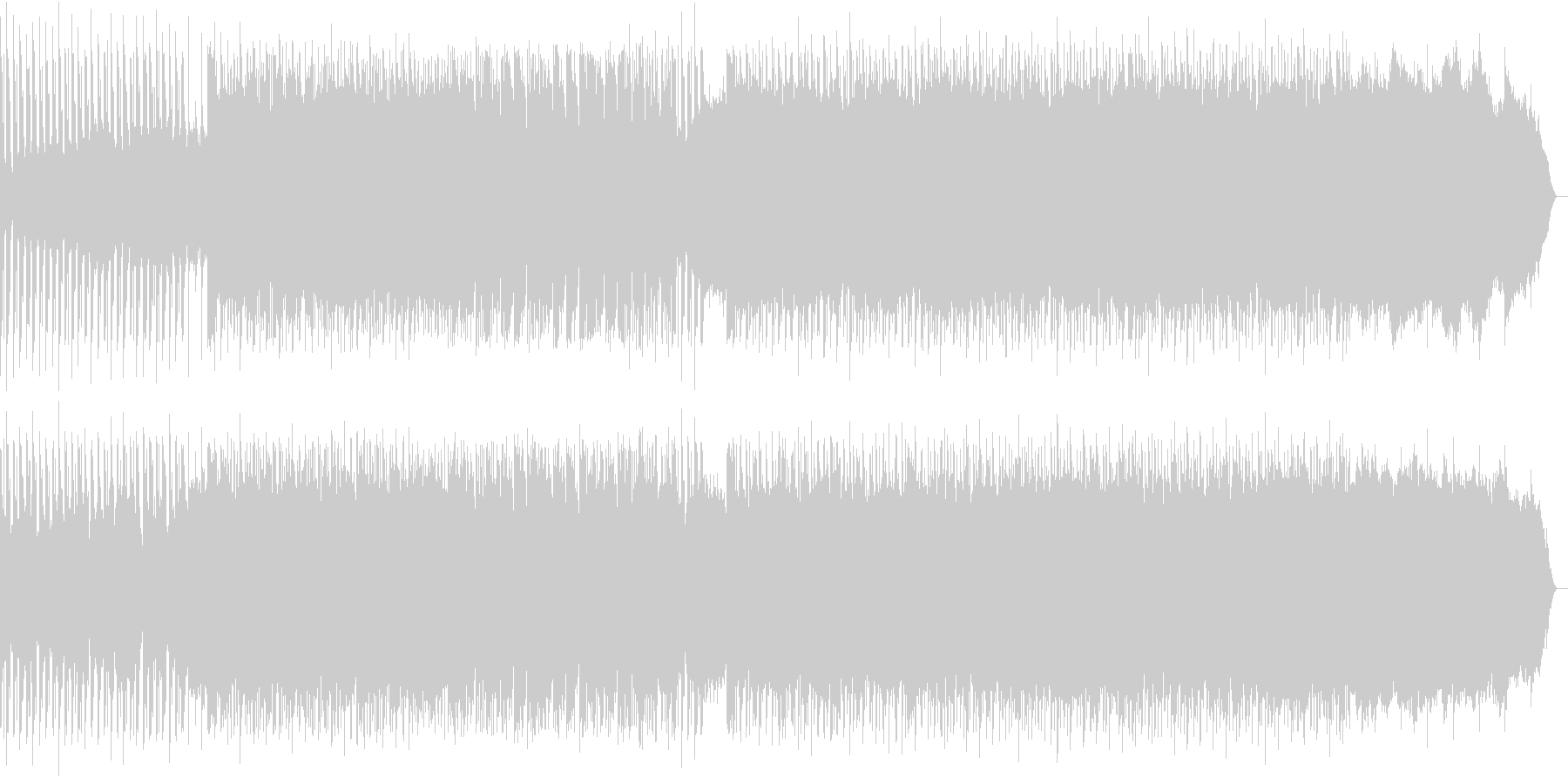 解説シーン向けコミカルEDMの未再生の波形