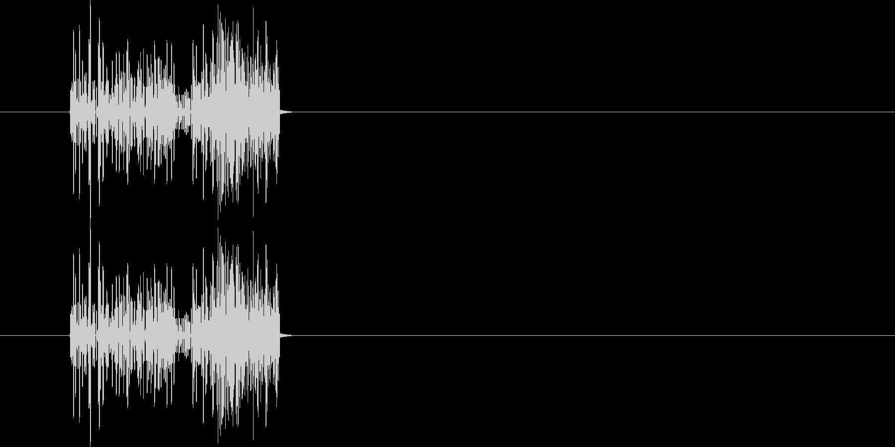 爆発音 昔のゲームの爆発音の未再生の波形