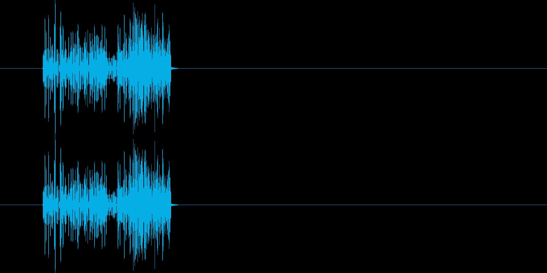 爆発音 昔のゲームの爆発音の再生済みの波形