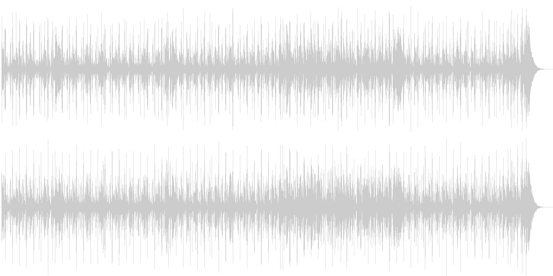 ピアノが印象的な雰囲気のポップスの未再生の波形