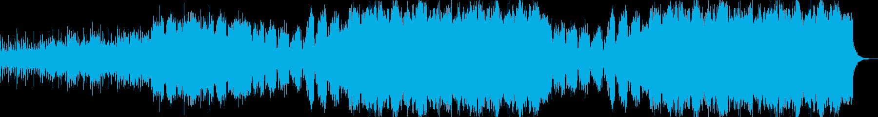 哀愁感のあるヒーリング音楽の再生済みの波形
