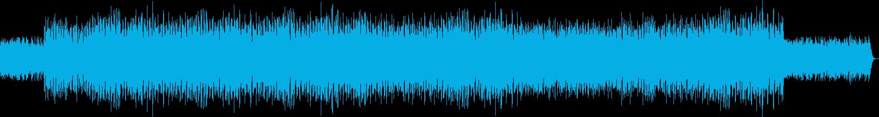 コミカルな雰囲気のポップテクノの再生済みの波形