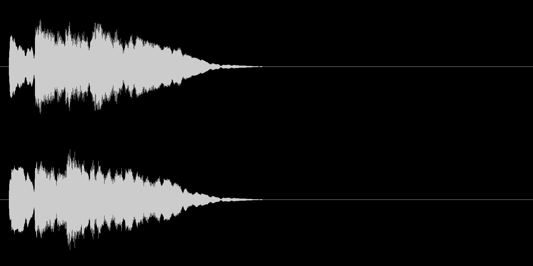 クイズ系05 正解 ピンポンピンポンの未再生の波形