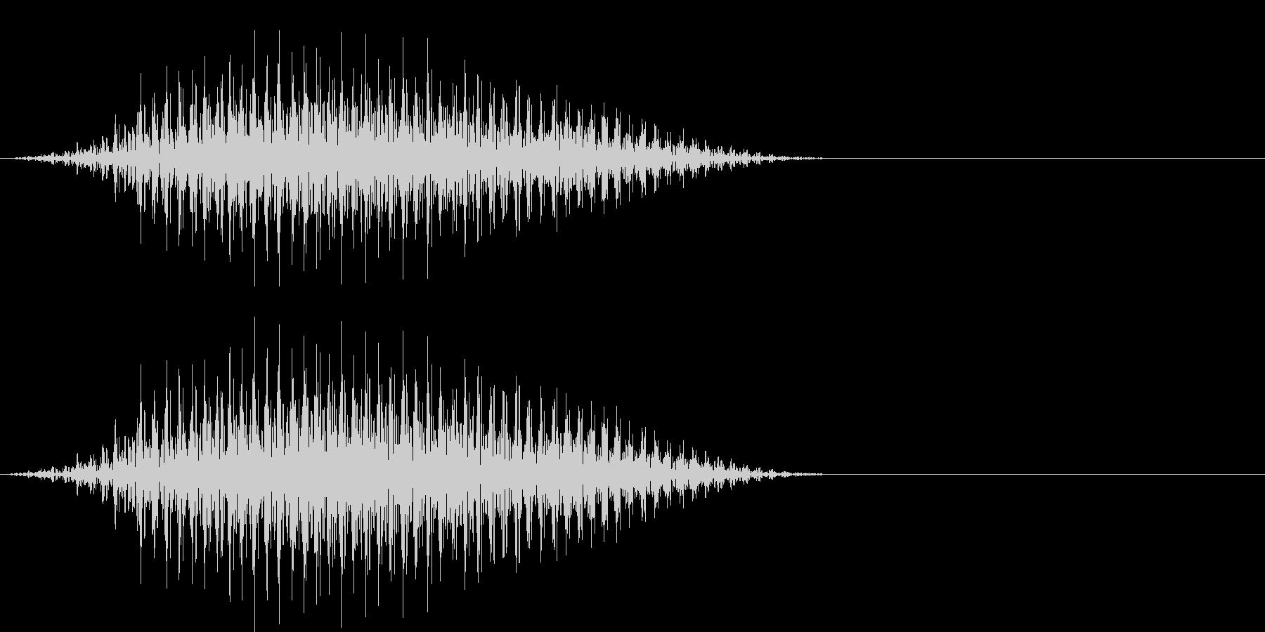 ウシガエルの鳴き声(牛のような低い声)の未再生の波形