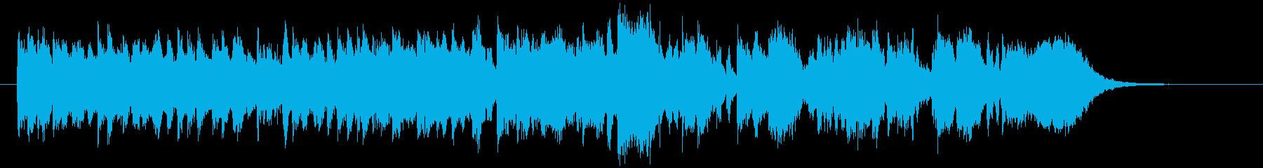 軽快で明るいボサノバのジングルの再生済みの波形