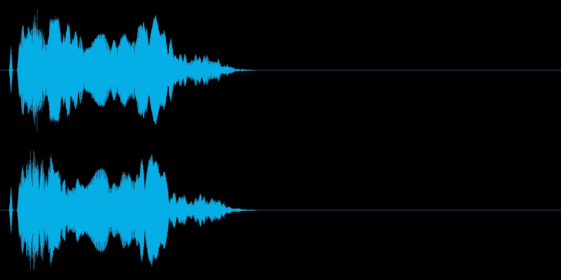 ニャ〜!猫の鳴き声 効果音14の再生済みの波形