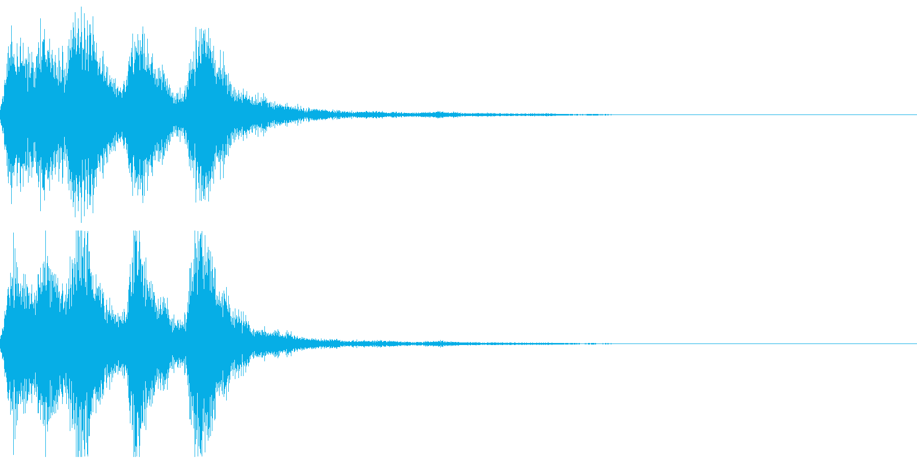 ラッパ ファンファーレ 定番 11 早いの再生済みの波形