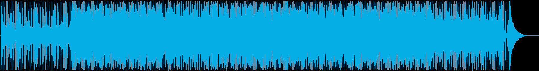 のんびりと落ち着くゆったりな音楽の再生済みの波形