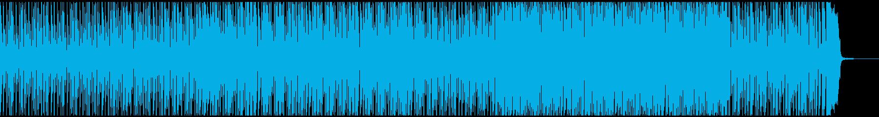 ポップなバンドの楽しいBGMコーラス抜きの再生済みの波形