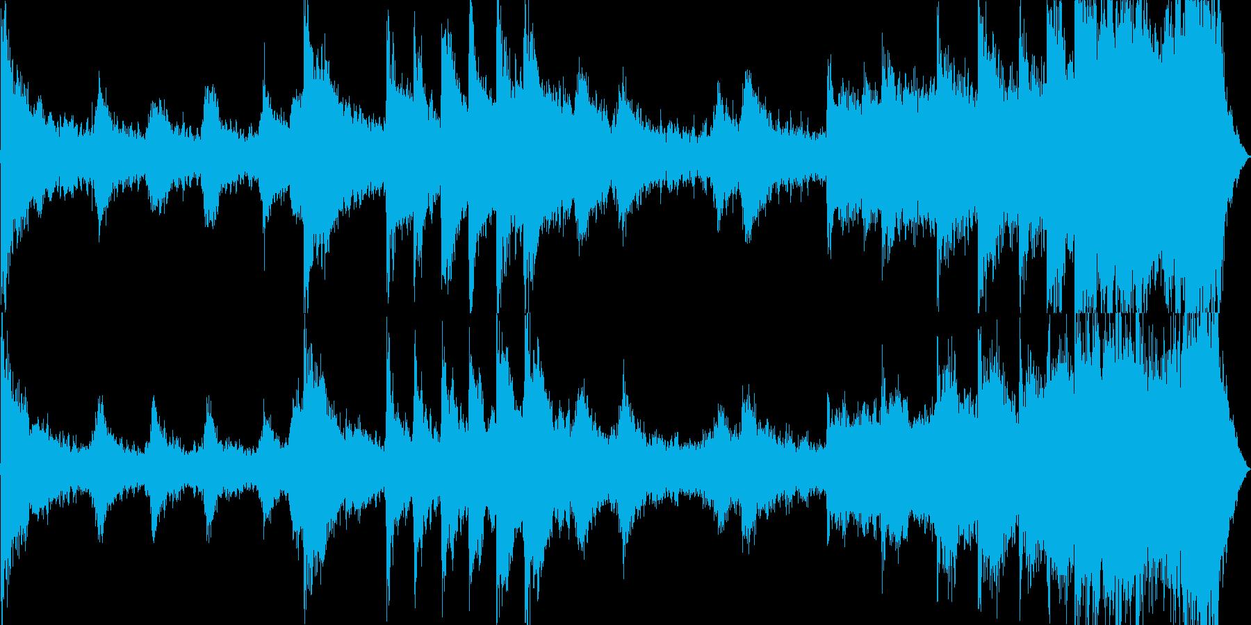 何か恐ろしいことが起きそうなBGMの再生済みの波形