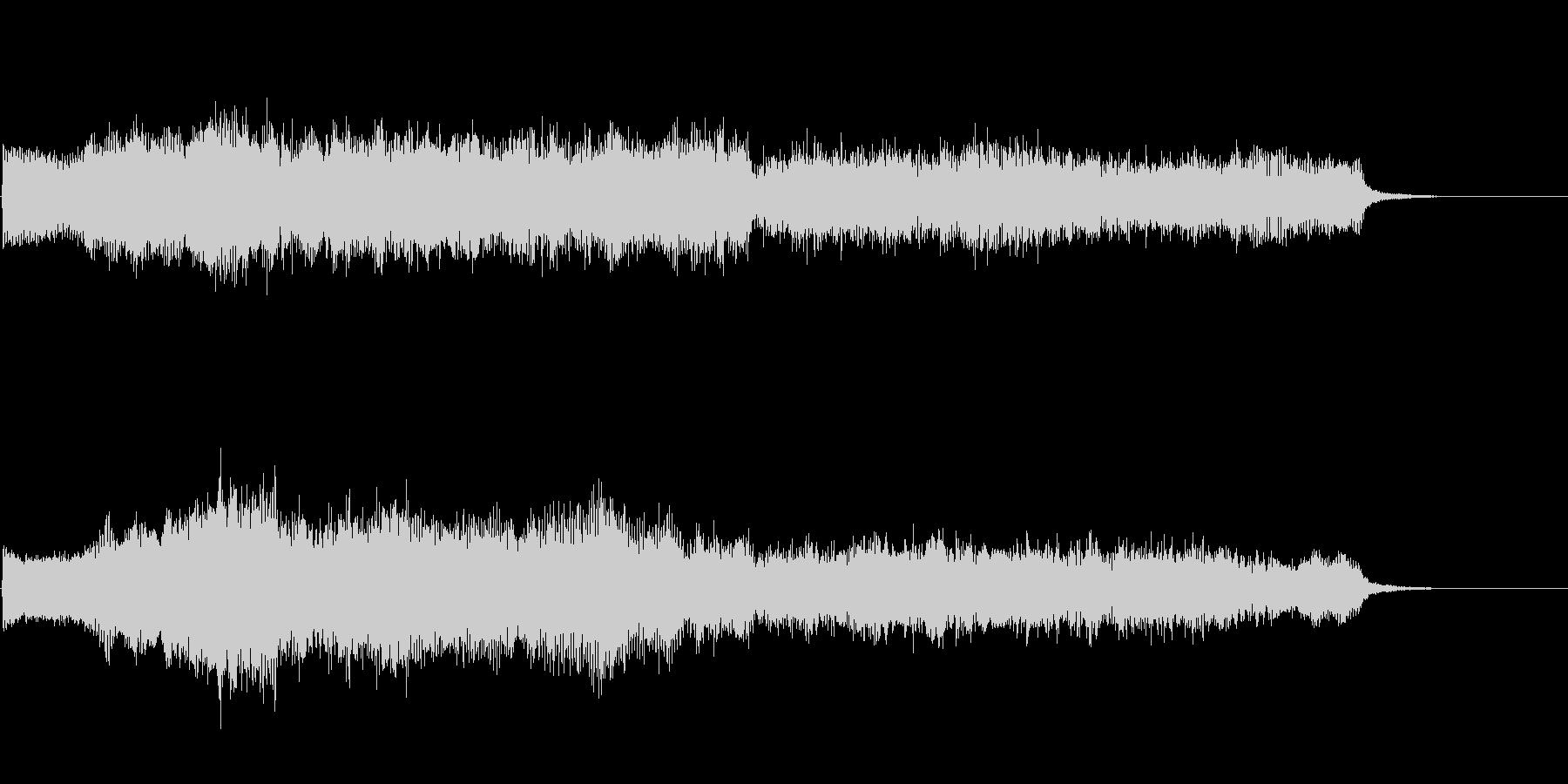 ダーク ホラーなストリングス 鐘の音入りの未再生の波形