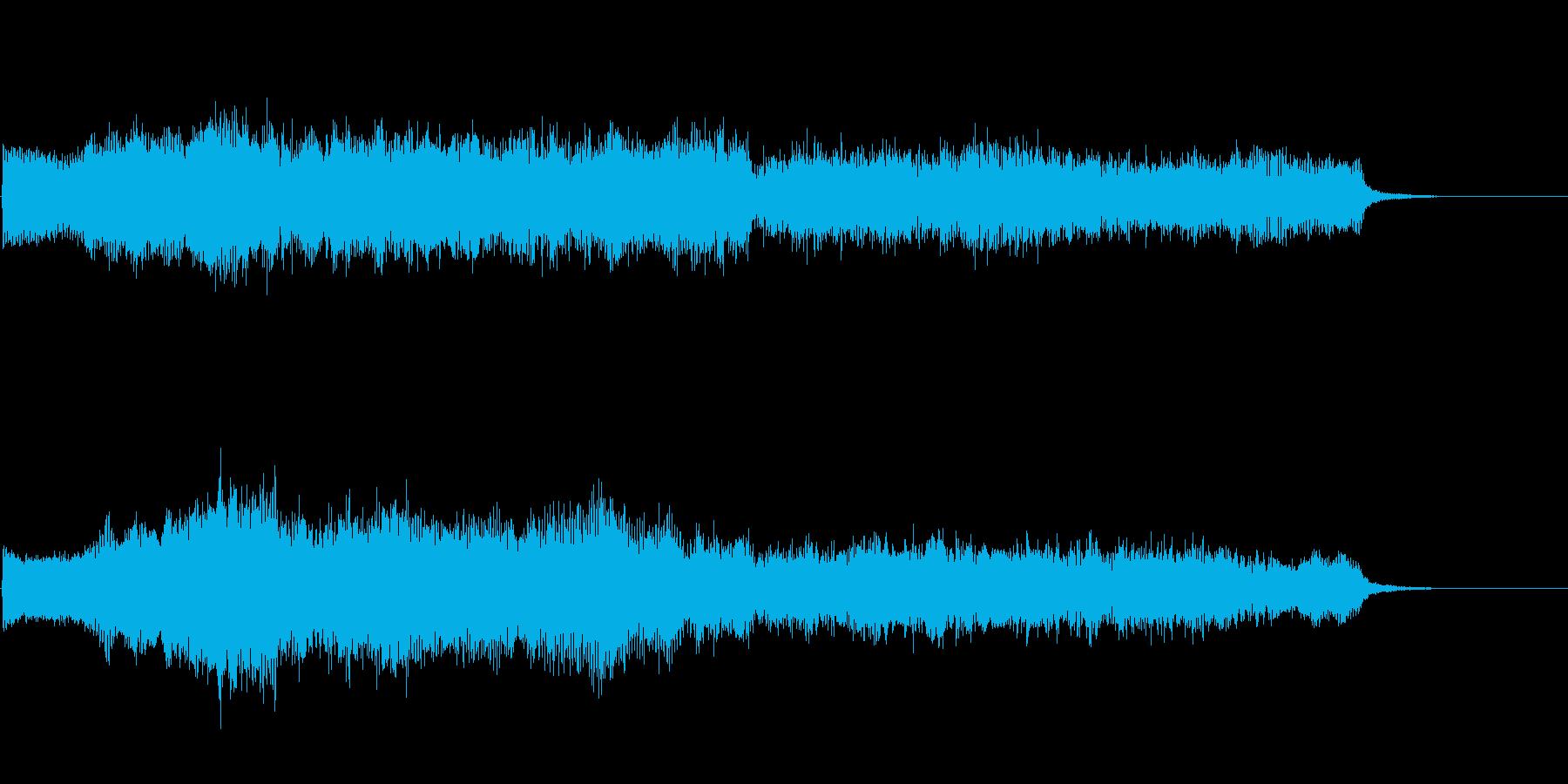 ダーク ホラーなストリングス 鐘の音入りの再生済みの波形