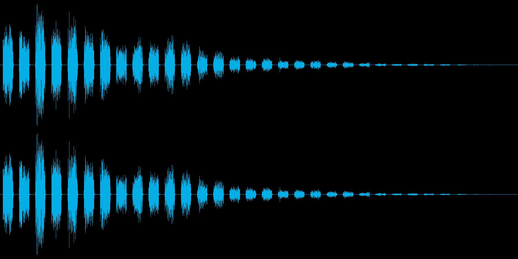 【エレキギター】クリーントレモロ音の再生済みの波形