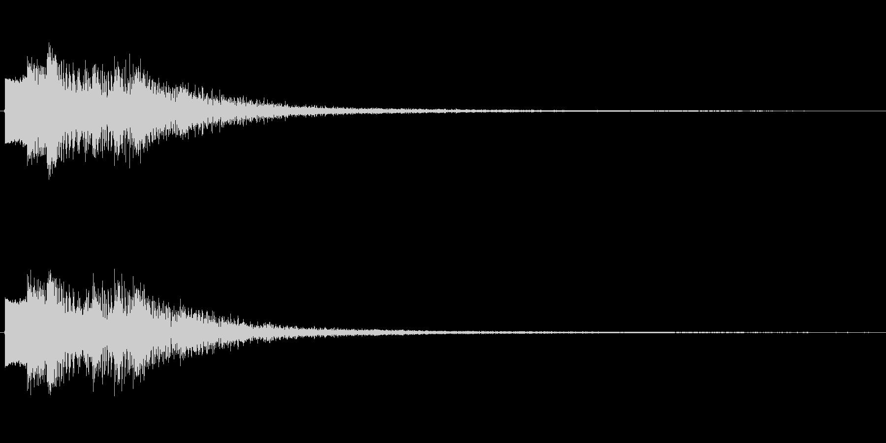 ゼリーのようなぷるるんとした音の未再生の波形