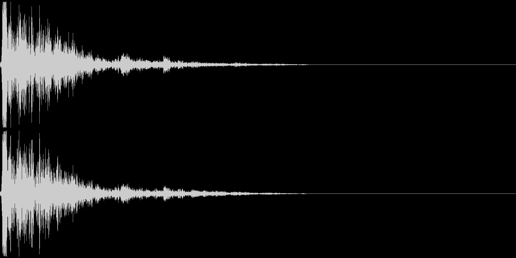 破壊音_木製の物の未再生の波形