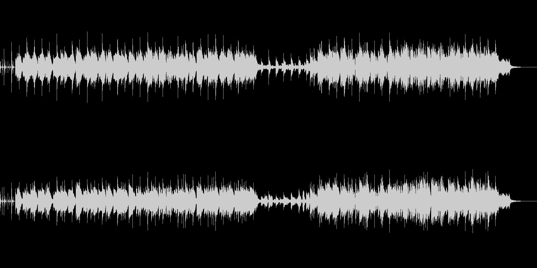 元気な生ウクレレと明るいシンセメロの曲の未再生の波形