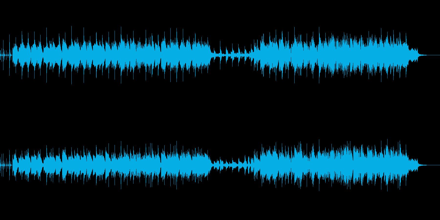 元気な生ウクレレと明るいシンセメロの曲の再生済みの波形