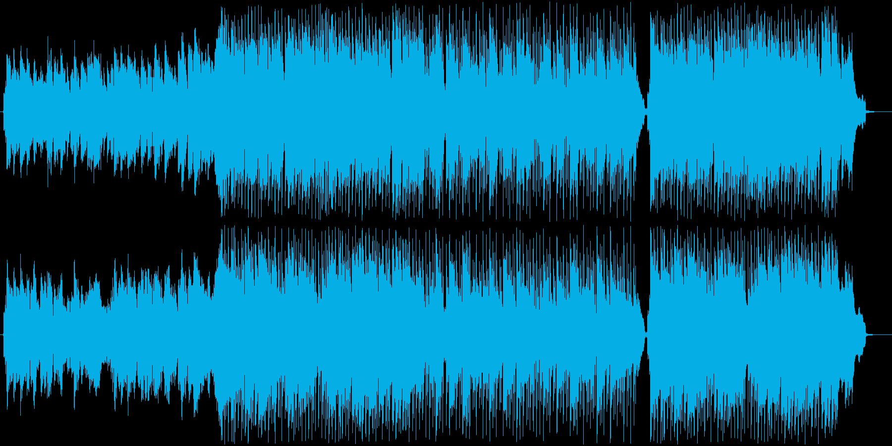 ほのぼのとした行進曲BGMの再生済みの波形