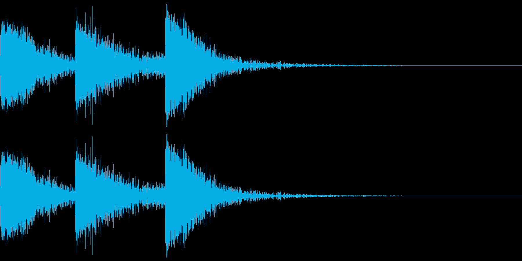 【SE】攻撃音03ヒット3発(ビビビシ)の再生済みの波形
