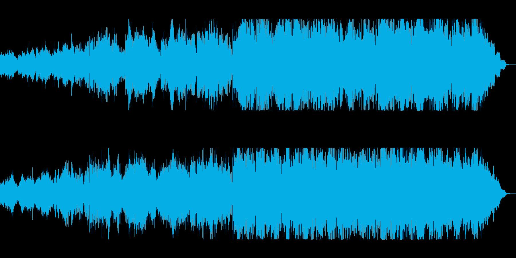 ハスキーな中音の女性の声が魅力の楽曲の再生済みの波形