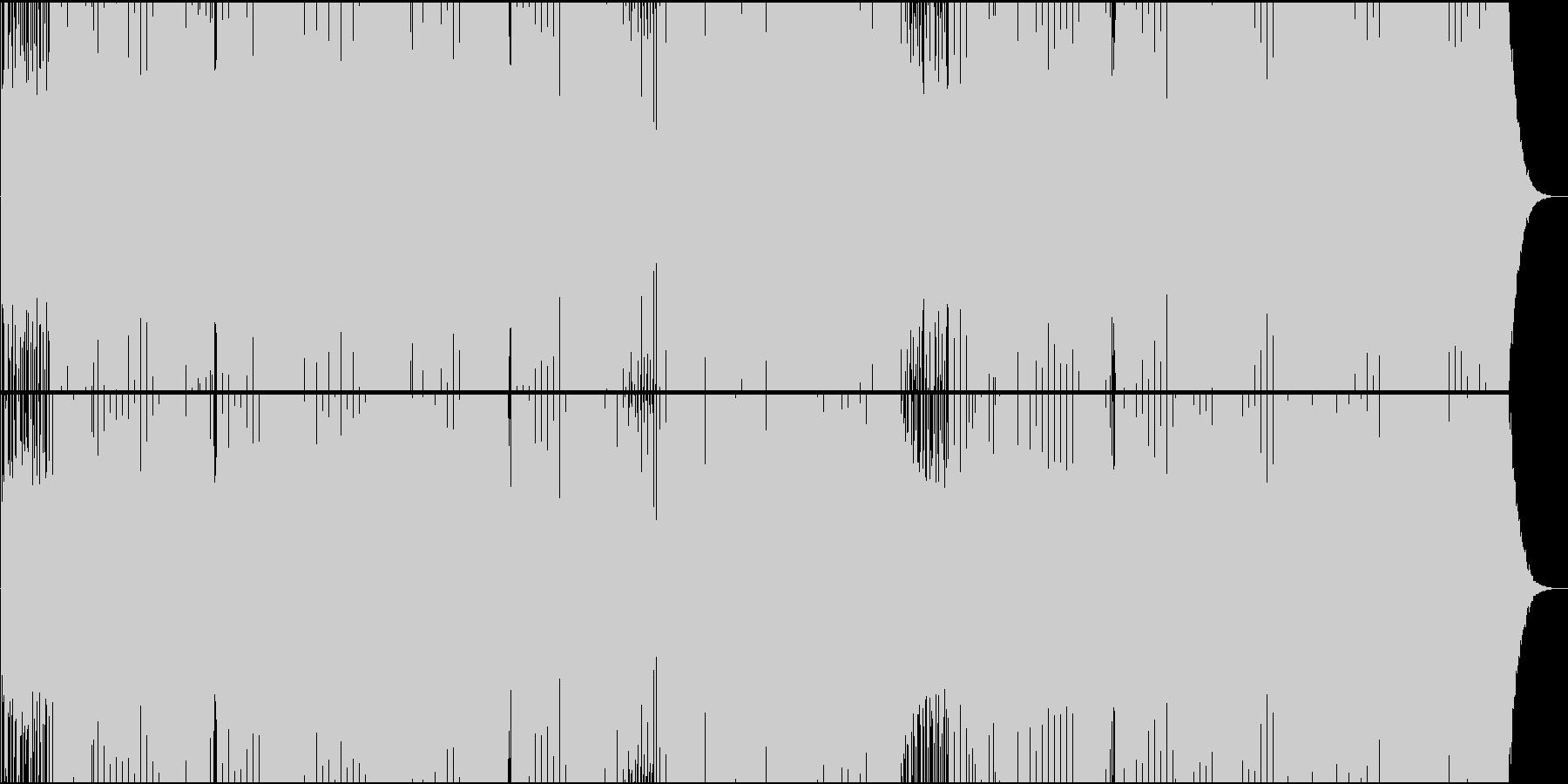 「トルコ行進曲」トランス系アレンジの未再生の波形