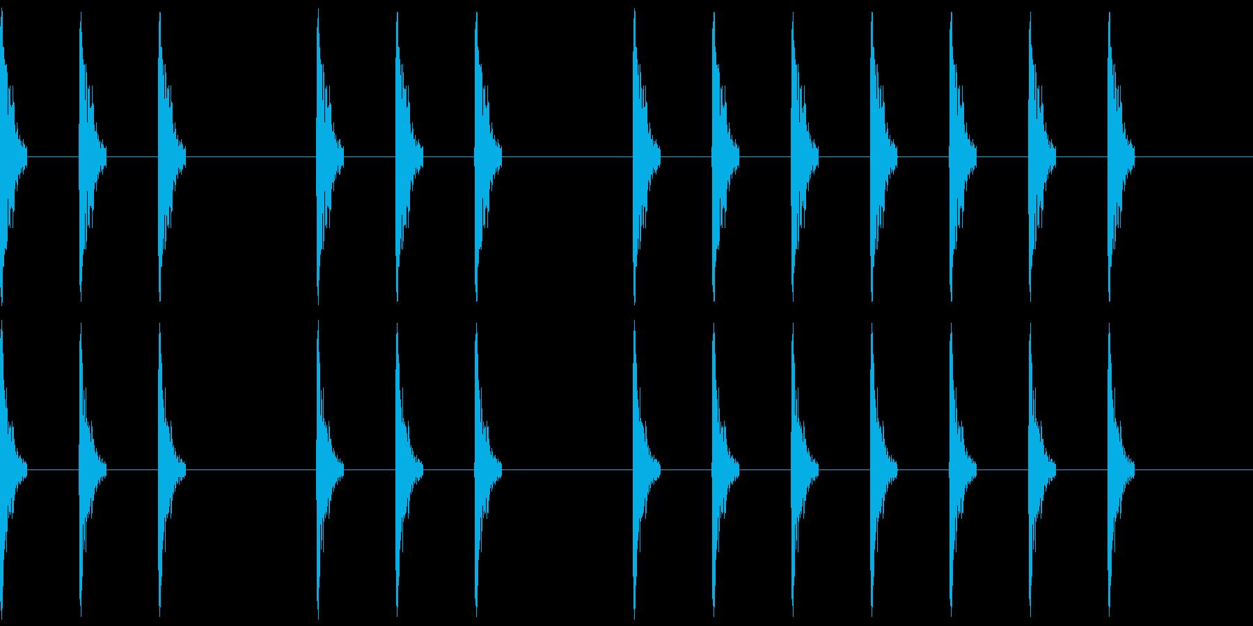 三三七拍子(一人で手拍子)の再生済みの波形