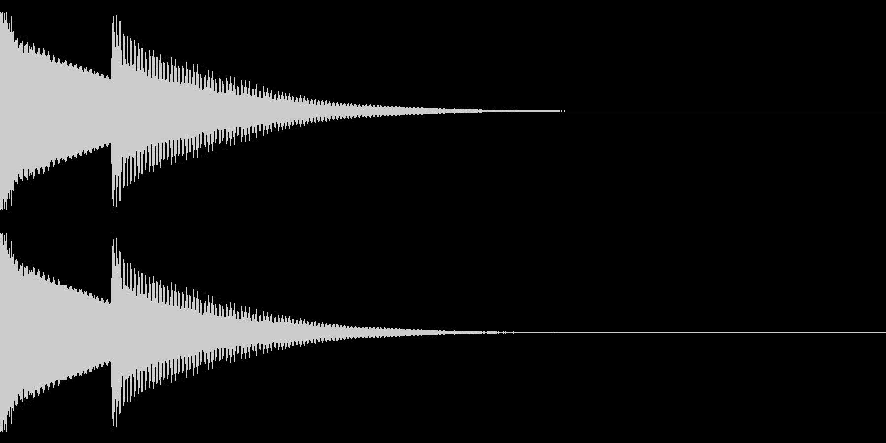 注意音ベル系02(ピンポン)の未再生の波形