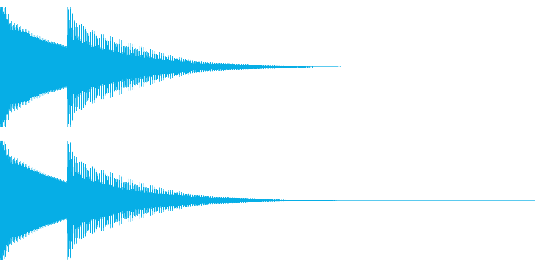 注意音ベル系02(ピンポン)の再生済みの波形