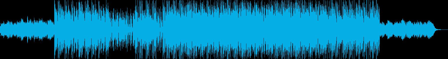 明るく前向きなムードのポップスの再生済みの波形