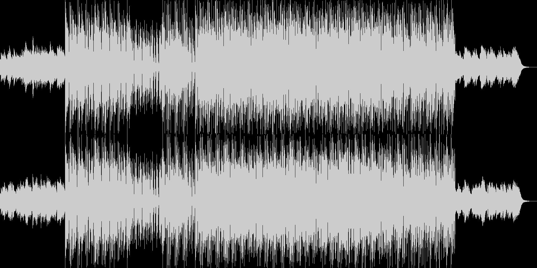 明るく前向きなムードのポップスの未再生の波形