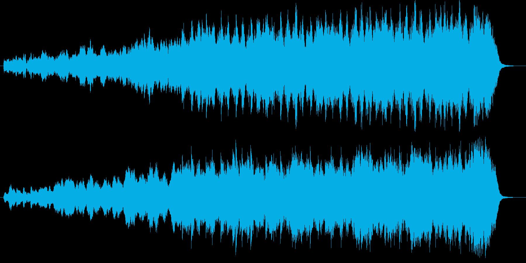 変拍子の森、村っぽい音楽の再生済みの波形