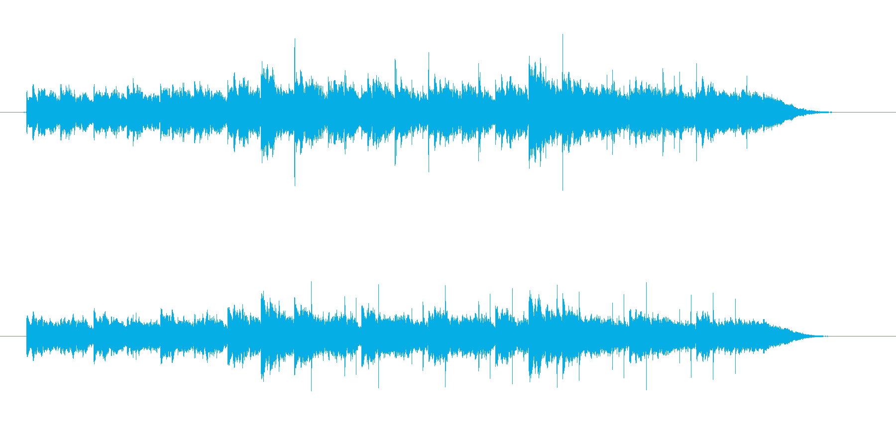 幻想的、近未来的な雰囲気のCM向きBGMの再生済みの波形
