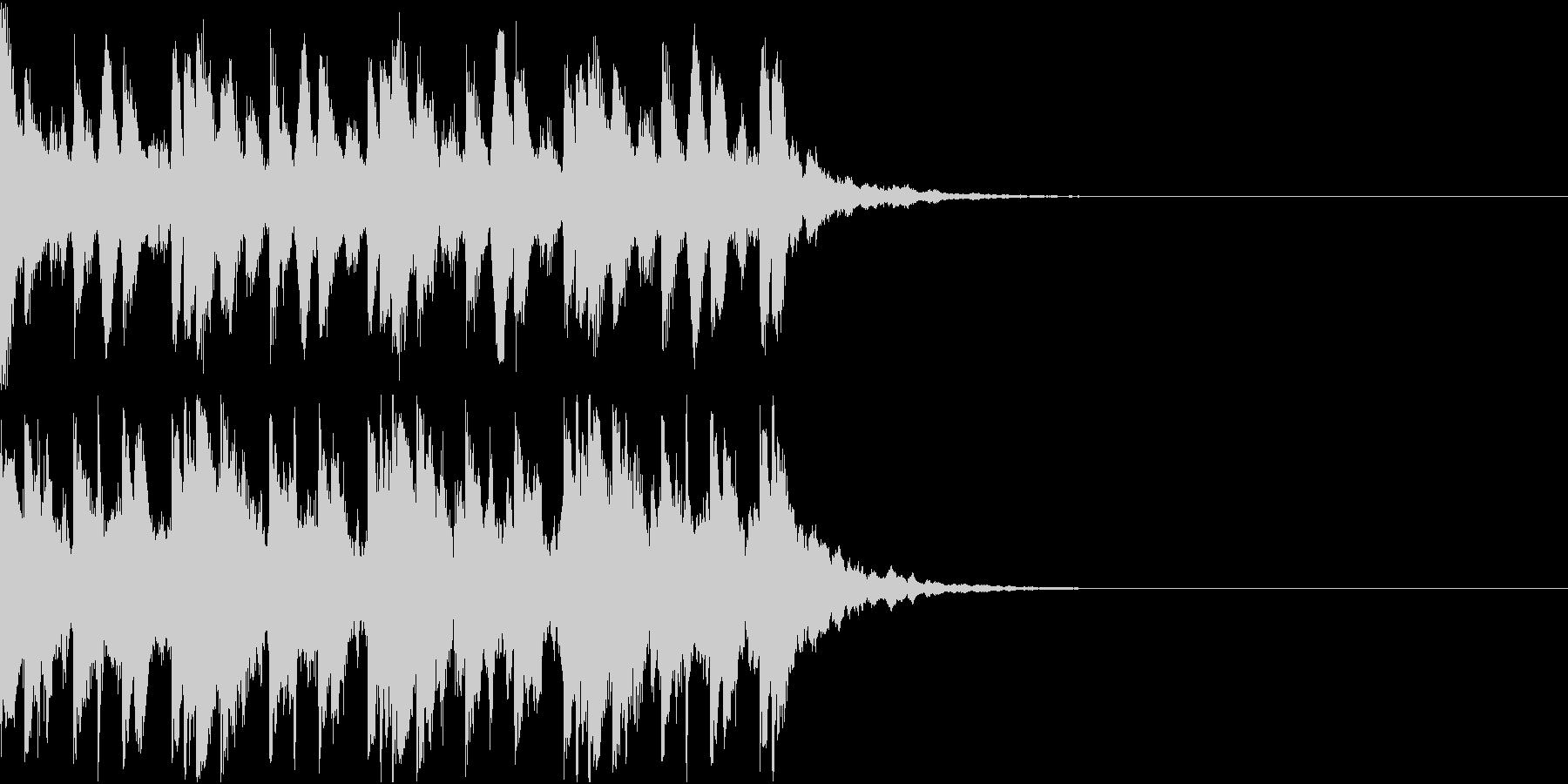 不気味な場面で使われるBGMの未再生の波形