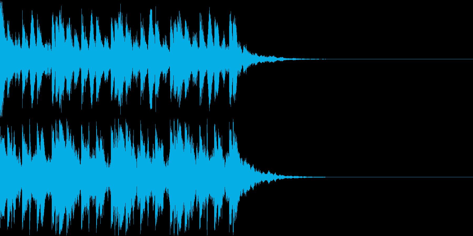 不気味な場面で使われるBGMの再生済みの波形