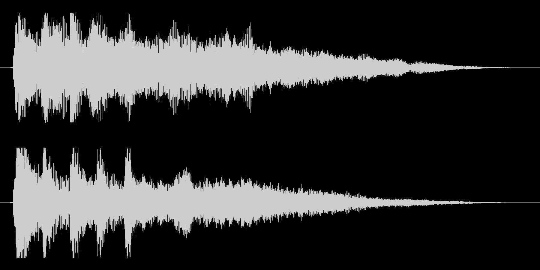 【響きのために1】の未再生の波形