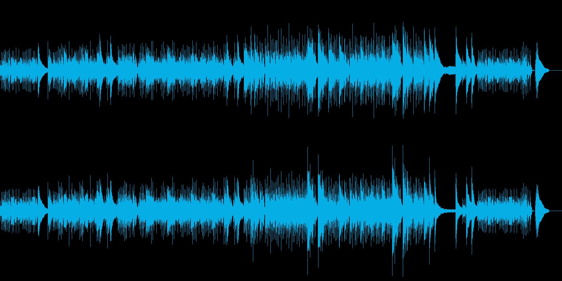 優しい、アコギのアルペジオの再生済みの波形