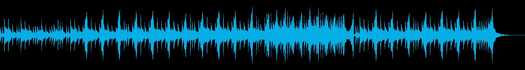 ゆったり切ない感動系ピアノバラード映像の再生済みの波形
