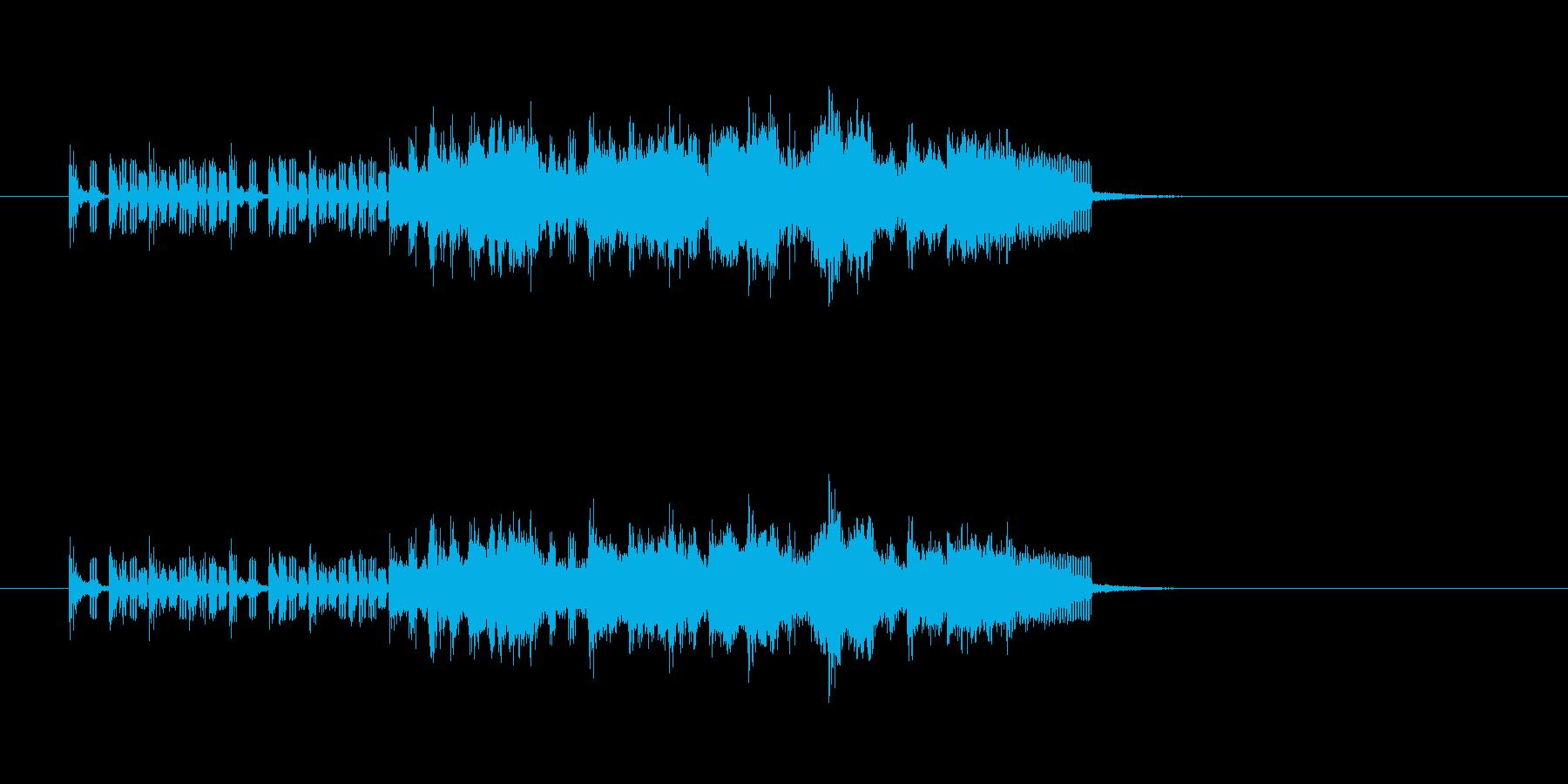 ベース トランペット フルート ほのぼのの再生済みの波形