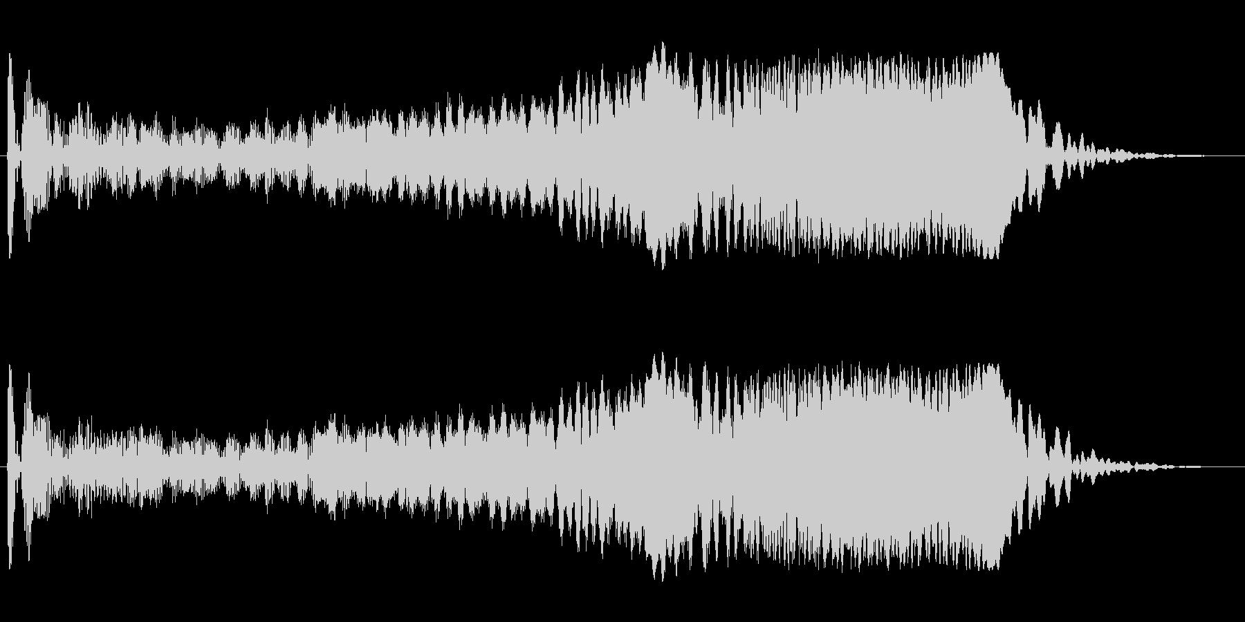 モワーン(シンプルで単音の効果音)の未再生の波形