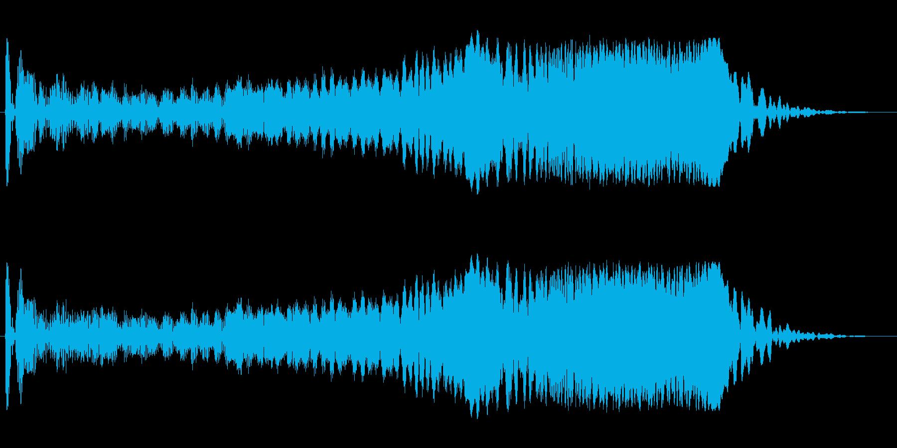 モワーン(シンプルで単音の効果音)の再生済みの波形