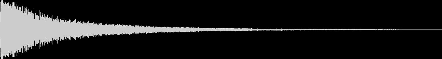 試合開始のゴングの未再生の波形