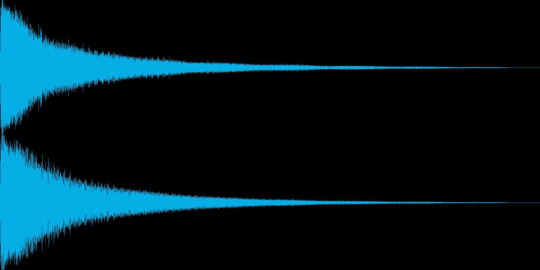 試合開始のゴングの再生済みの波形