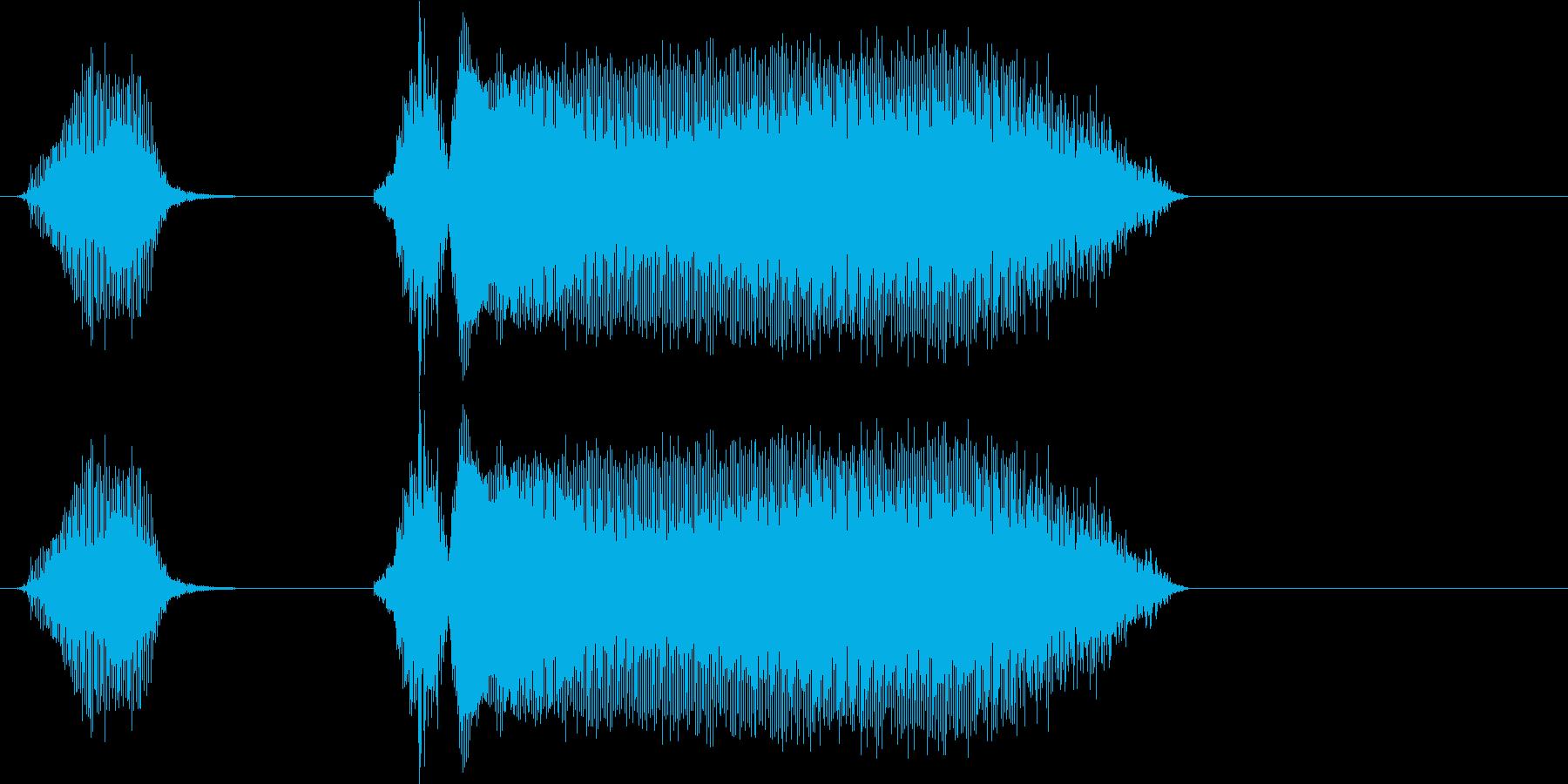 遊技機ゲーム用女性ボイス「あっちゃ~」の再生済みの波形