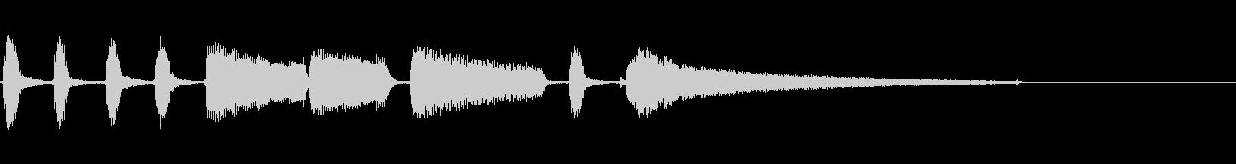エレキギターの穏やかなジングルの未再生の波形
