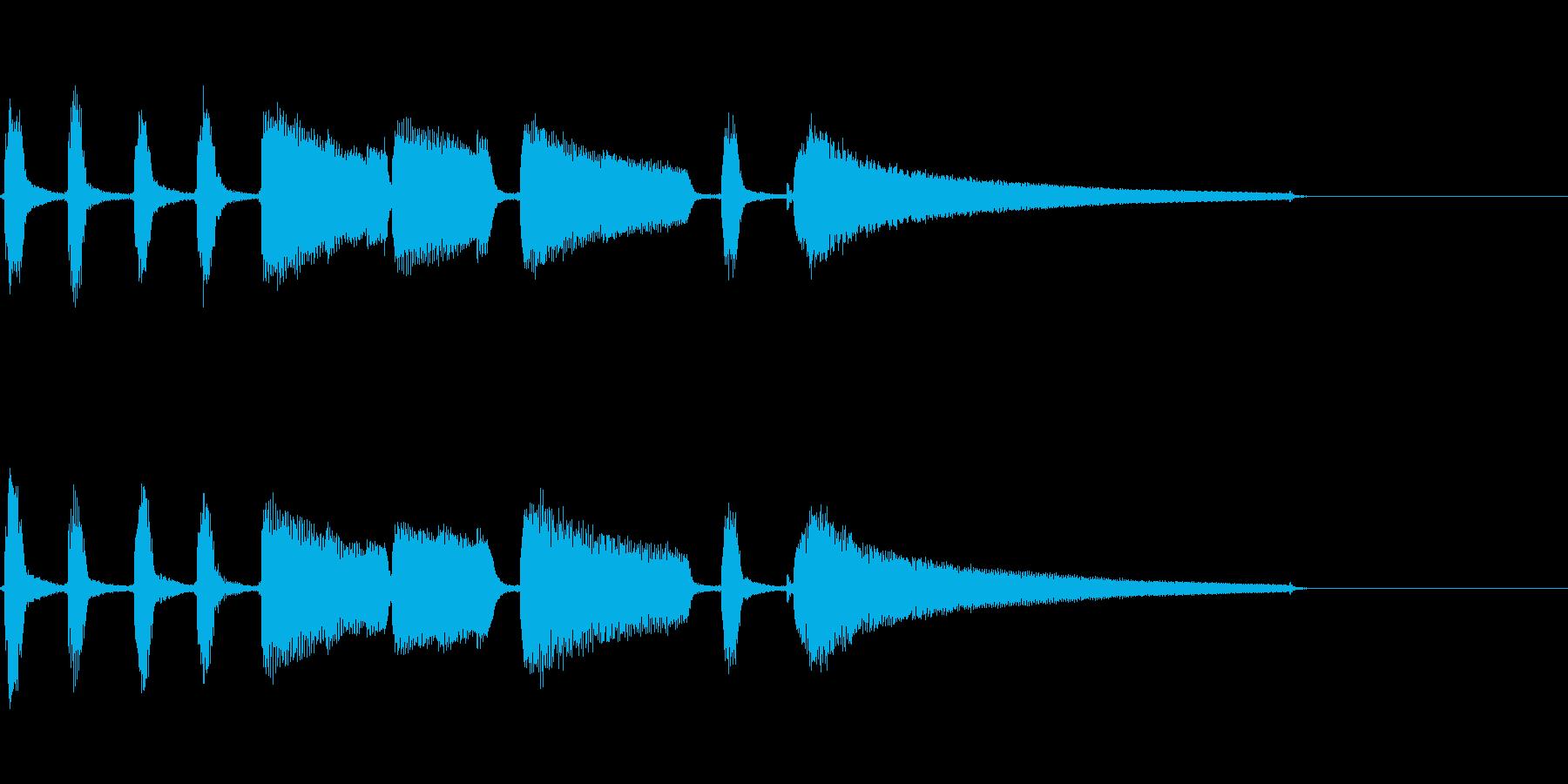 エレキギターの穏やかなジングルの再生済みの波形