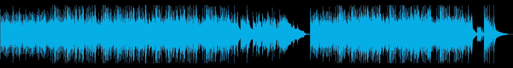 ヒーリング系オリエンタル音楽の再生済みの波形